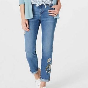 J. Jill weekender embroidered jeans